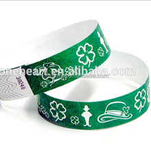 Custom Wegwerp Event & Party Item Type en tyvek polsbandje Gelegenheid Pulseras Tyvek
