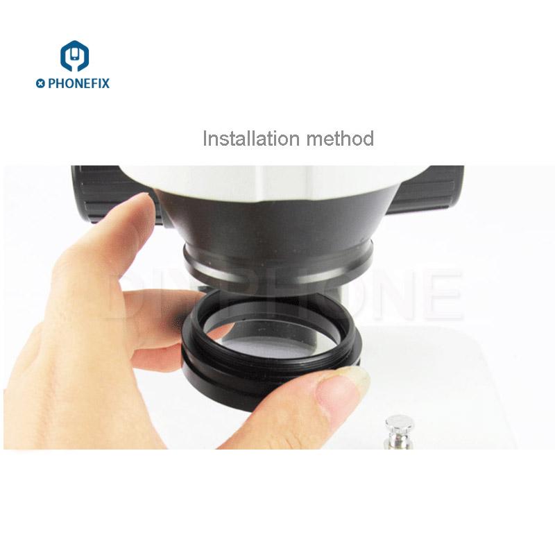 Antipolvo Aceite de humo /Óptico Est/éreo Microscopio Objetivo Lente Gafas Microscopio Objetivo Lente Vidrio protector