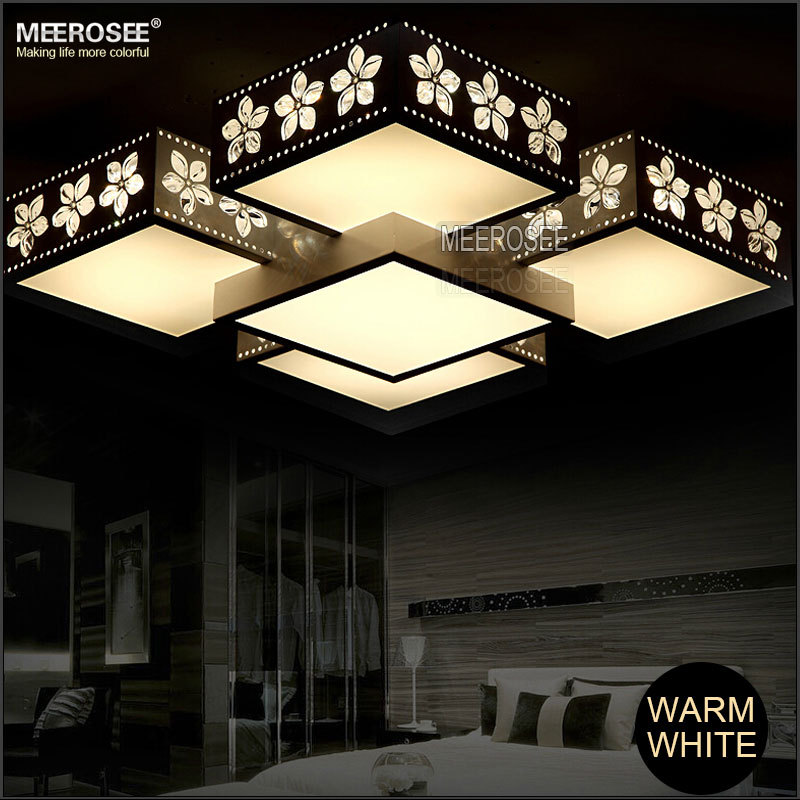 Cheap Wholesale Rectangle Led Ceiling Lamp Modern Flower Printing ...