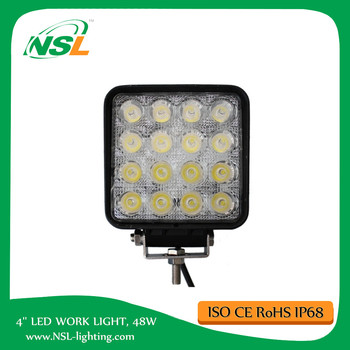 Cheap 48W LED Work Light 4inch for tractors and vehicles working