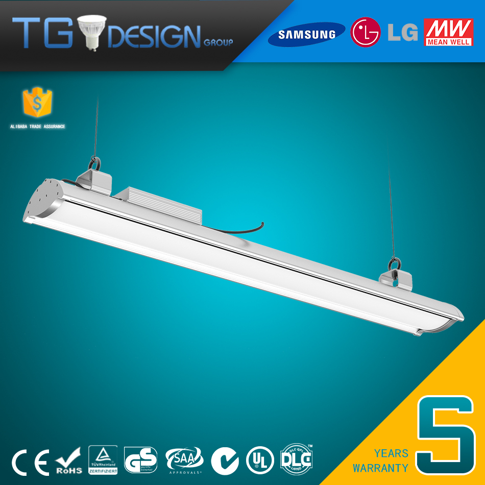 USA Hotselling DLC4.0 20000lm 150w Linear LED High Bay luminaire 4ft