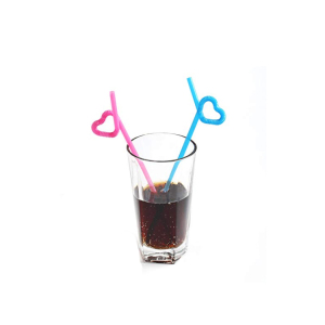 Environmental food grade colorful juice box hard dispenser plastic drinking straw