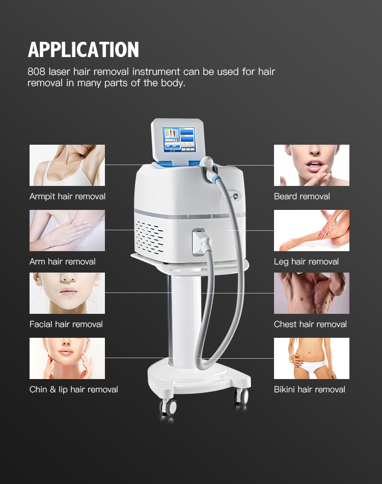 Diode laser 3 waves 755nm 808nm 1064nm Three Triple-Wave 3 Wave Length Laser Hair Removal Machine