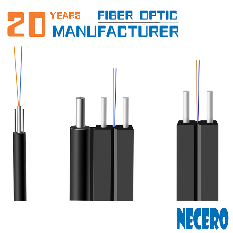 Necero 20 years Fiber Optic OEM factory Anatel certificate High Speed Internet Ftth Drop Cable