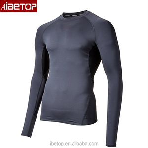 (OEM factory) High Performance Compression Long Sleeve Shirt - Plain Rash Guards