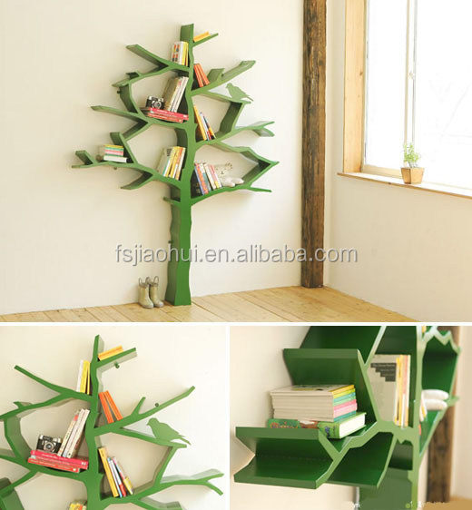 2016 Popular Tree shape Design Fiberglass Living Room Book Shelf