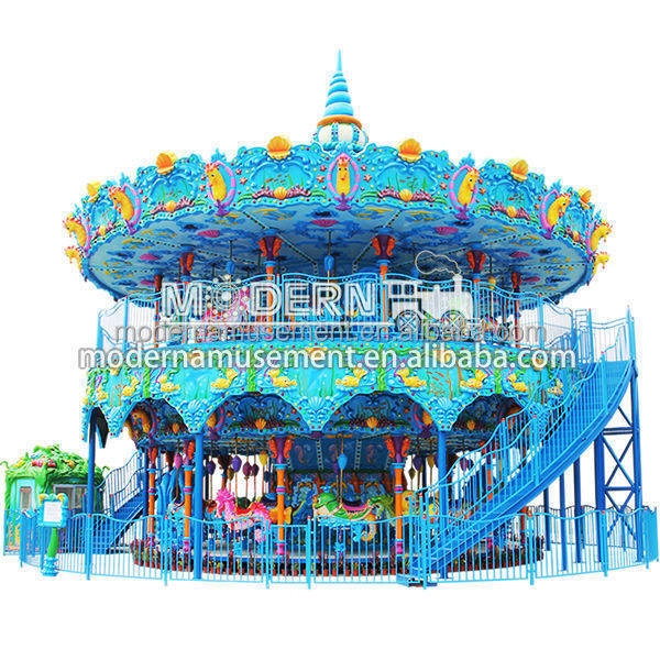 double deck novel carousel rides carnival ride companies