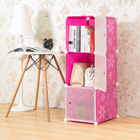 2016 multifunction modular cheap living room 3 cube organizers