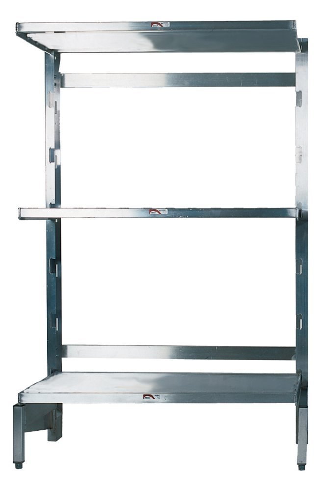 "Winholt SCASS-2460-3-SU Solid Reinforced Shelving Starter Kit, 3 Units, 24"" x 60"" Shelving Size"