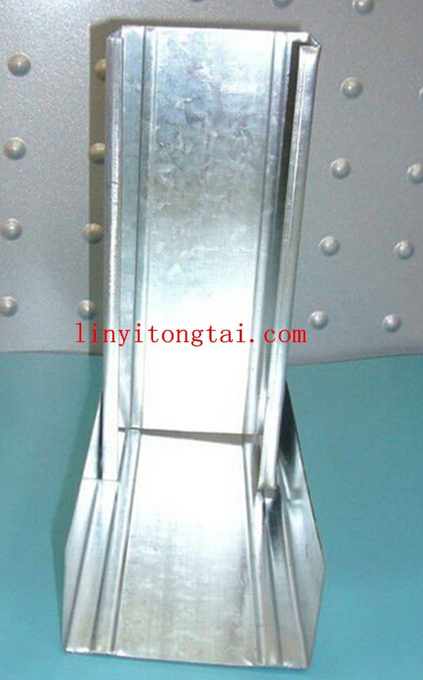 Galvanized steel stud and runner