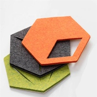 hexagon modern geometric tiles stylish modern office murals felt Office wall decoration