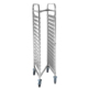 Stackable Steel Tray Rack Trolley GN 1/1 Pan 15 Tiers Saves Space