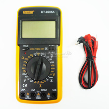 DT9205A AC DC LCD Display Professional Electric Handheld Tester Meter Digital Multimeter Multimetro Ammeter Multitester