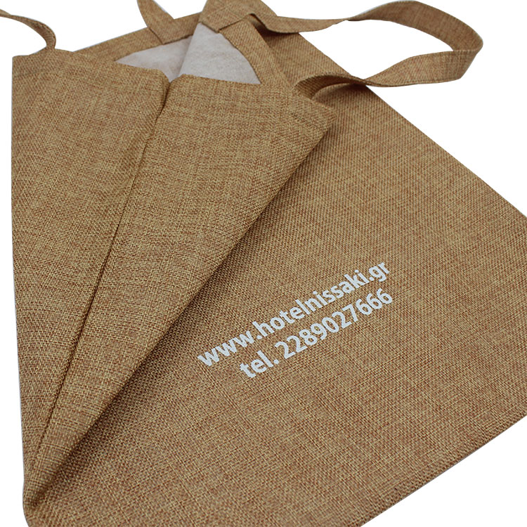 custom heavy duty eco friendly wholesale jute tote shopping gift bag printed