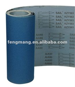 blue color zirconia oxide DEER ABRASIVE cloth ROLL KYZ563