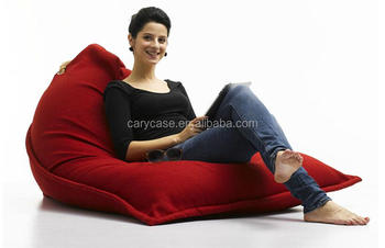 PIVOT Adults Bean Bag Red High Back Support Beanbag Chair Large Seat Cushion