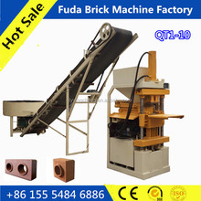 QT1-10 red interlocking brick production line automatic clay bricks plant