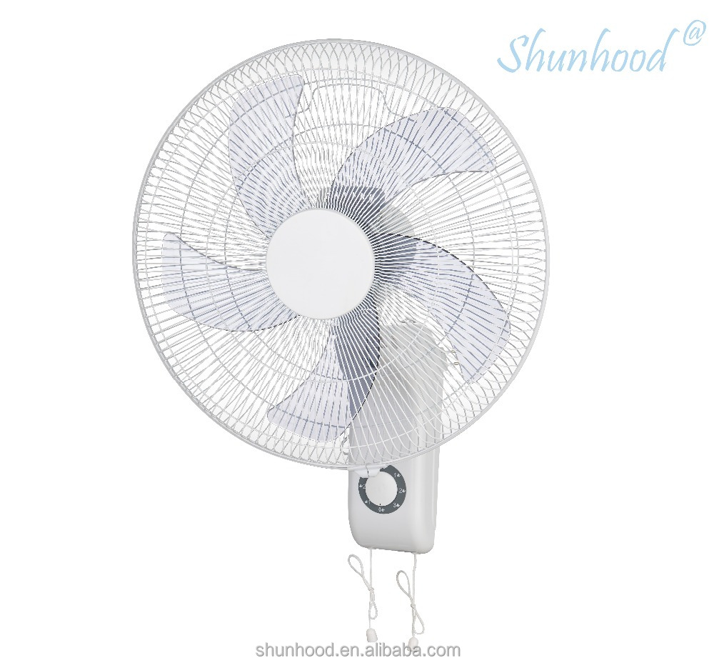 18 Inch (45cm) Electric Wall Fan with Pull Chain Control and 5 Big Size Blades [EF36-1F-45]