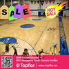 8.0mm Portable athletic pvc vinyl basketball flooring for indoor use