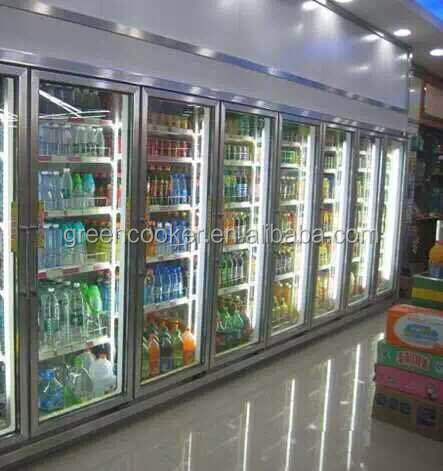 With Heater Glass Door Freezer For Supermarket/Store Using Plug-In Can Use
