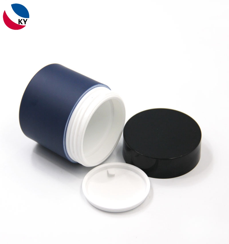 High quality double wall 50g cosmetic plastic jars and lids