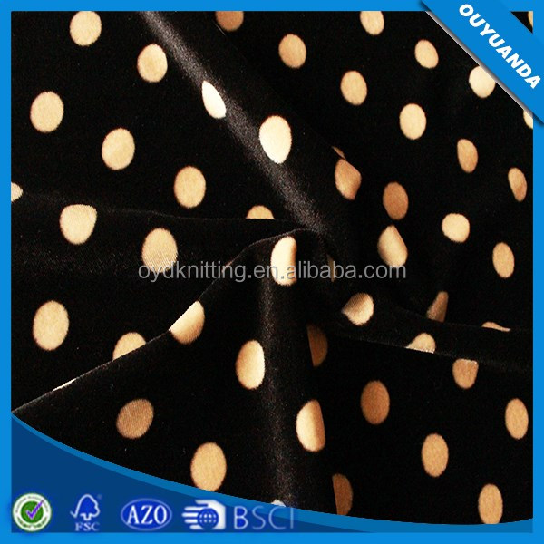 Custom Printed Spandex Velvet for Women Dress,Fashion Clothing,Shoes