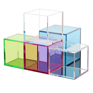 Wholesale Fluorescent Color Acrylic 5 Sided Box