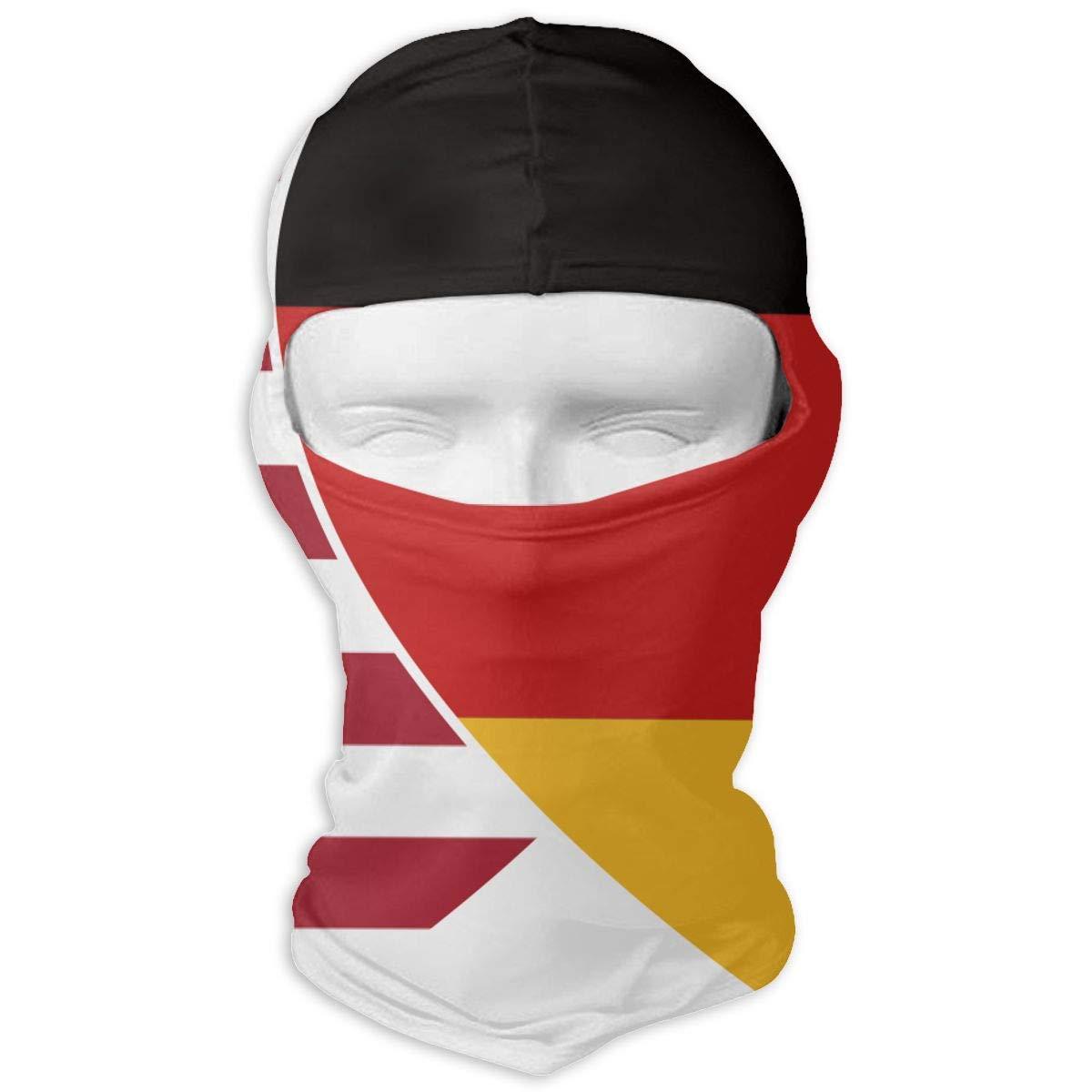 Giinly Germany USA Flag Twin Heart Outdoor Cycling Ski Motorcycle Balaclava Mask Sunscreen Hat Windproof Cap