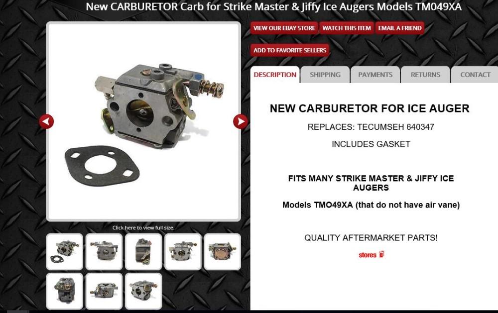 Carb For Tecumseh 640347 Tm049xa Tm049xa Tc200 & Tc300 Oregon 50-660 Lawn  Mower Carburetor With Gasket - Buy 640347 Carburetor,Tm049xa