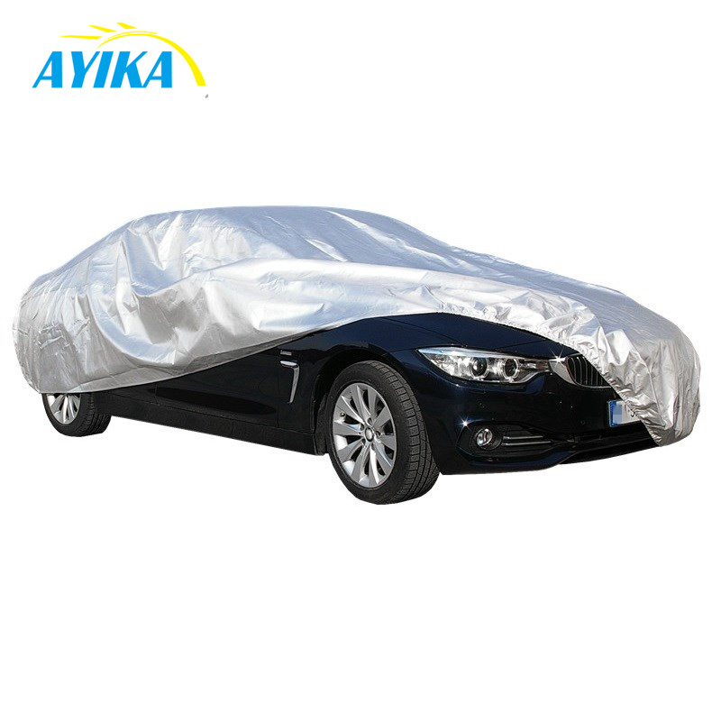 Different Sedan Size Outdoor Sun UV Protection Waterproof Silver Coated Polyester Taffeta 190T Car <strong>Cover</strong>
