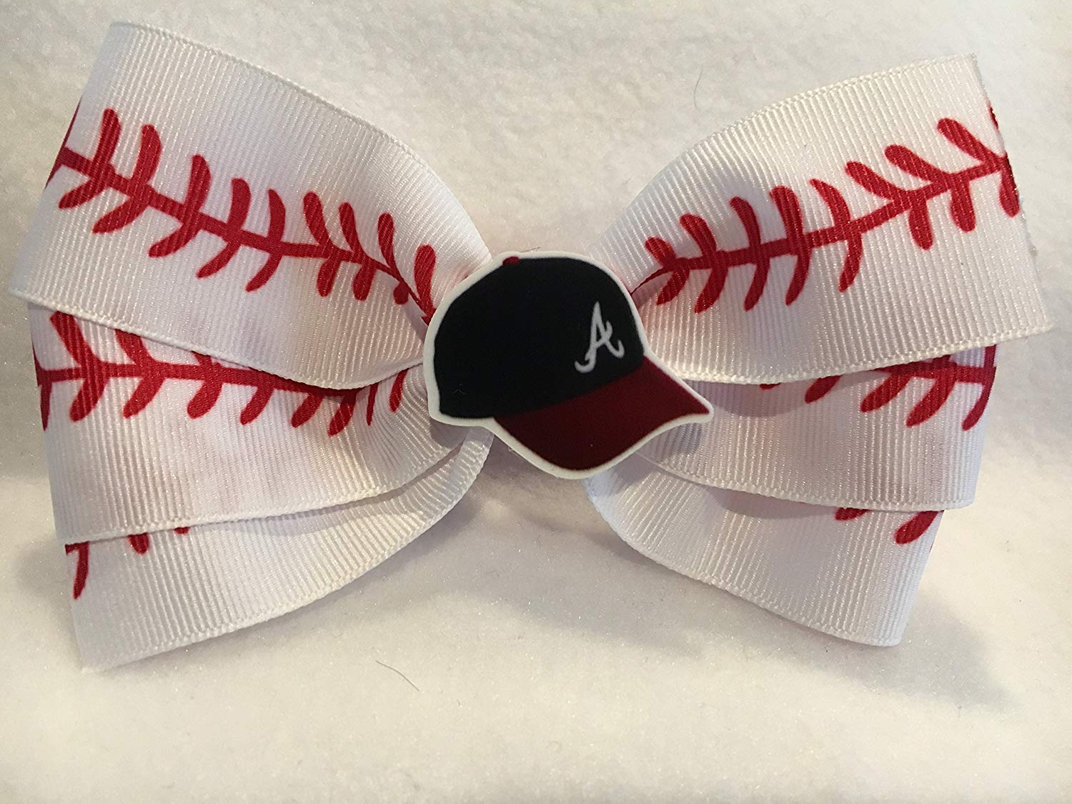 c5c7289a3152d Get Quotations · Atlanta Braves Hair Bow