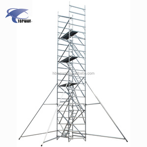 High quality 6061 mobile aluminum stair bridge scaffolding for sale