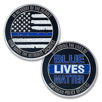 Blue Lives Matter American Officers Military Challenge Coin - Buy Challenge  Coins For Sale,Challenge Coins,Cheap Custom Challenge Coins Product on