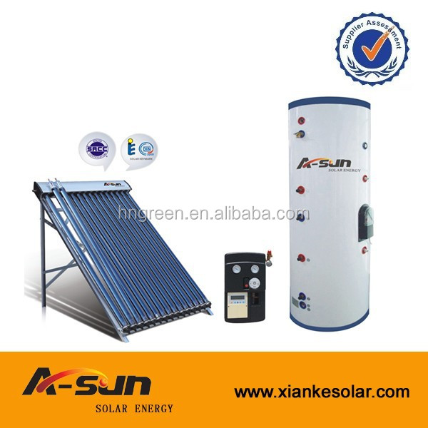Passive indirect thermosiphon split solar water heating system