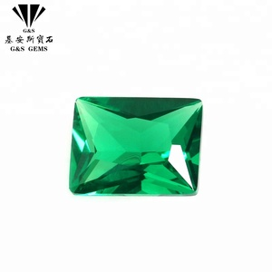 Lab Created Green sapphire gemstone Emerald Green Synthetic Spinel Gemstone