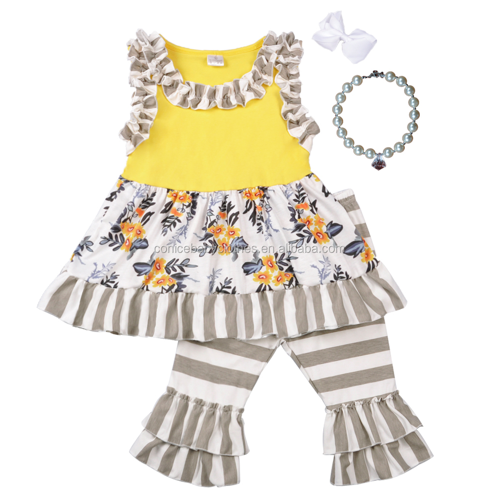 girl summer star embroidery 4th of July dress match chevron boutique ruffle outfits