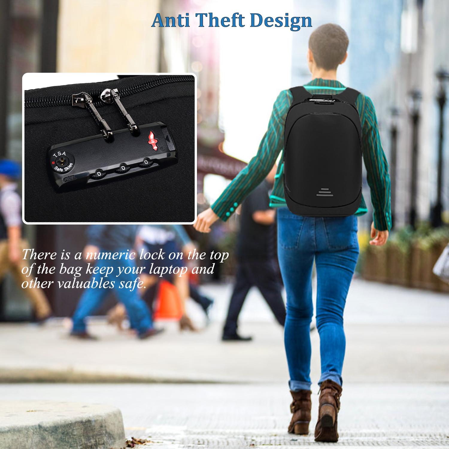 15.6 Inches Anti Theft Custom Usb Charging Men Back Pack Backpack Notebook Bags Business Laptop Wholesale Backpack