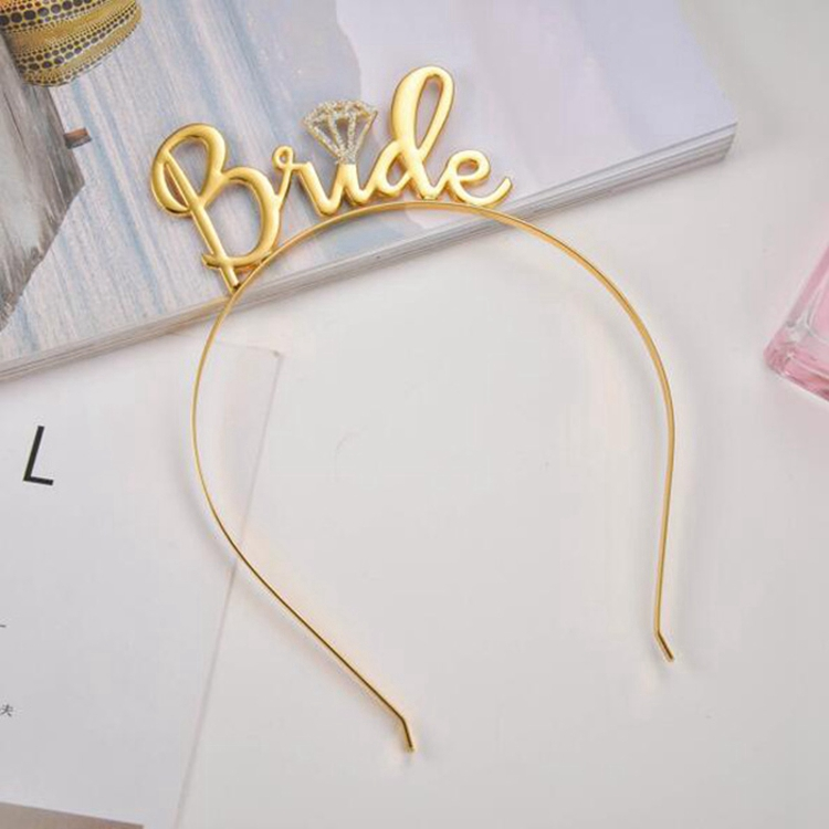 Accept custom bride to be tiara bridesmaid jewelry letter hairband hair tiara