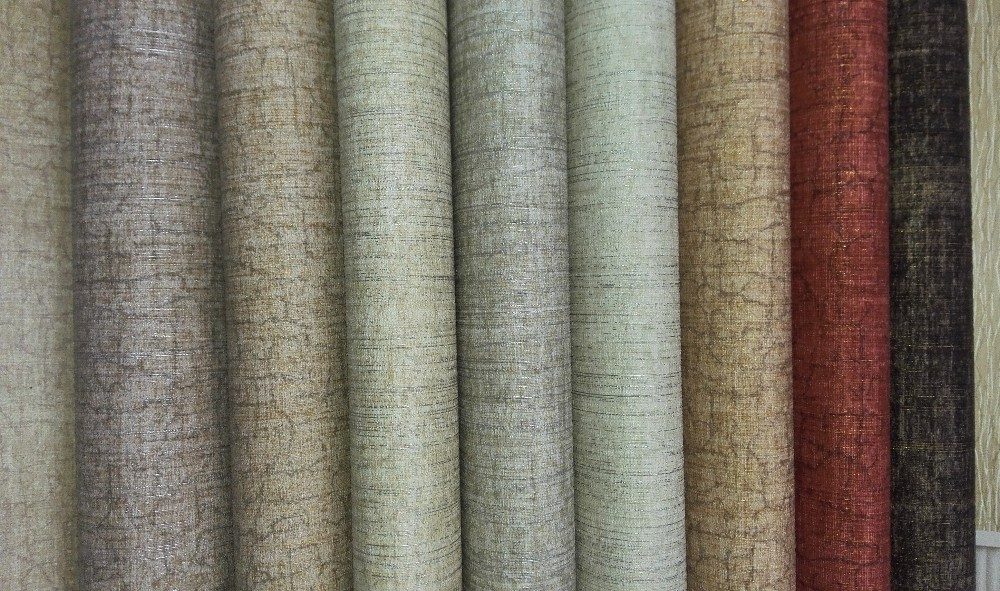 137cm width heavy thick commercial fabric backed vinyl wallpaper