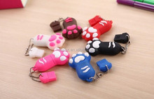 NEW 2015 lovely Cartoon Paw USB Flash Memory Pen Drive Sticks Thumb cat claw creative U Disk 256GB Thumbdrives