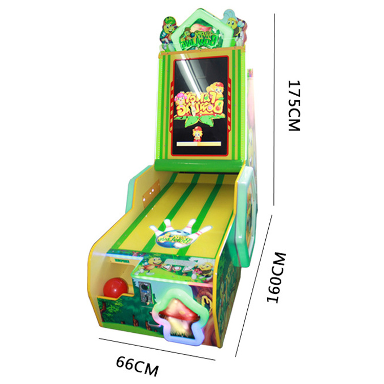 Coin Operated Throwing Balls Video Games Happy Bowling ...