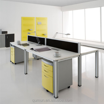 China Manufacturer Modern Two Seater Workstation Work Table Cubicle Office  Fitment