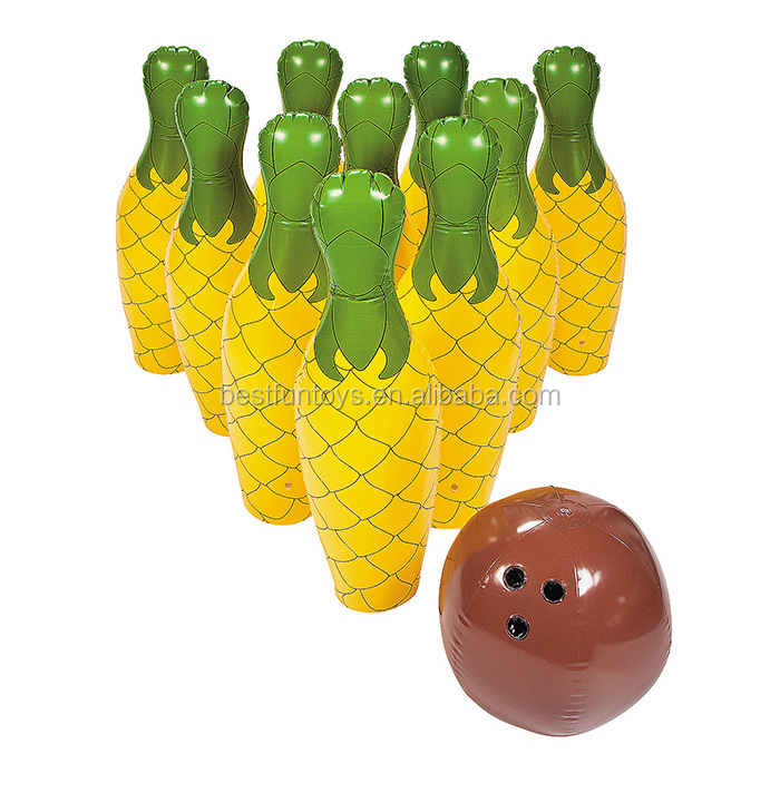 China Oem Manufacturer Inflatable Pineapple Bowling Set Colored ...