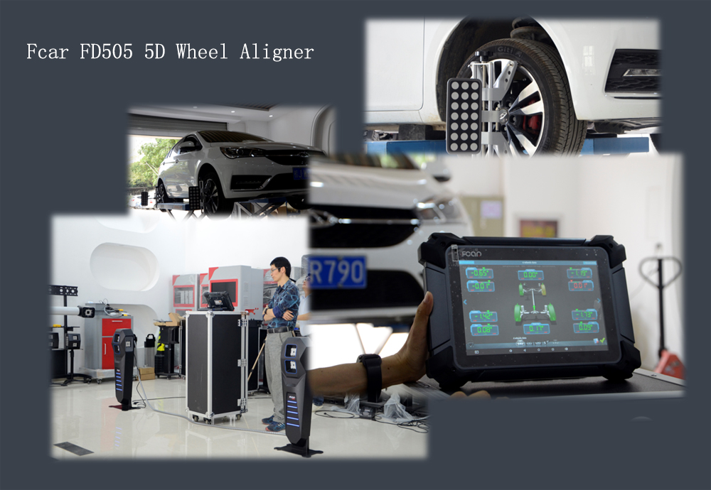 FCAR F505 four-wheel alignment system use precautions newest 5D aligner