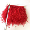 customized and color dyed Soft And Fluffy Ostrich Turkey Marabou Feather lace Trim fringe for decoration