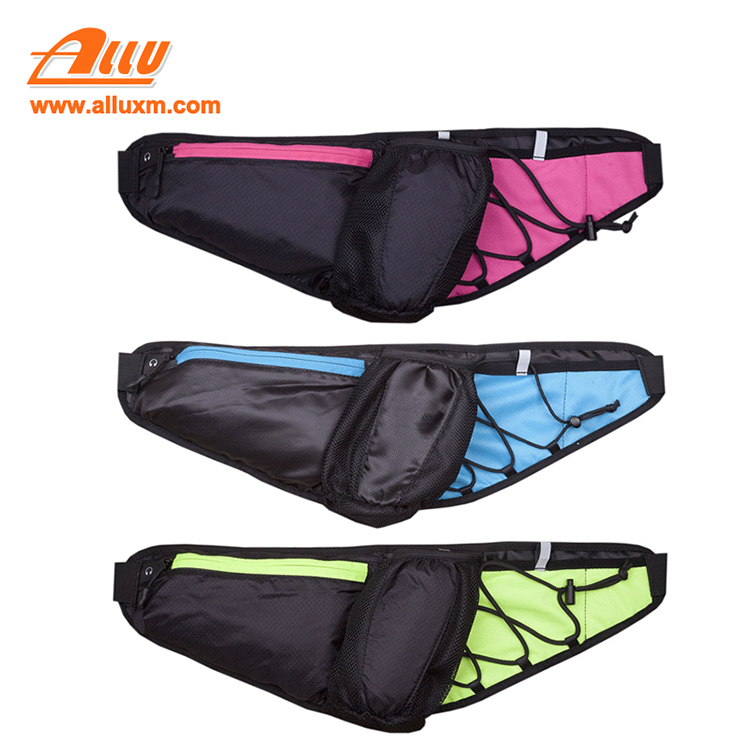 Adjustable blue waterproof waist trimmer bag for elastic loop securing