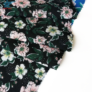 floral design dress material custom printed 100 rayon fabric hawaiian print by the yard