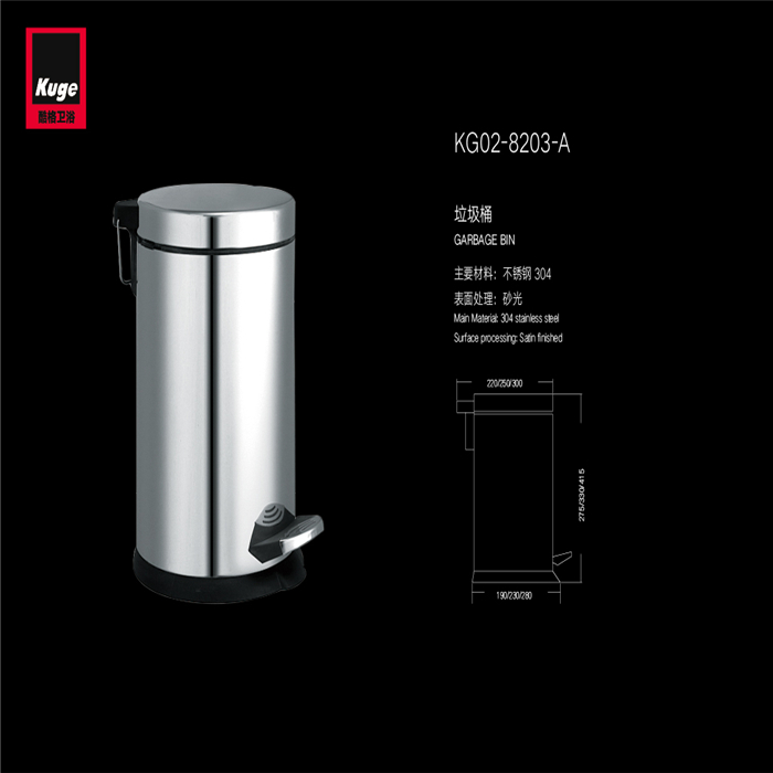 stainless steel cheap recycling garbage round trash can with lid for home