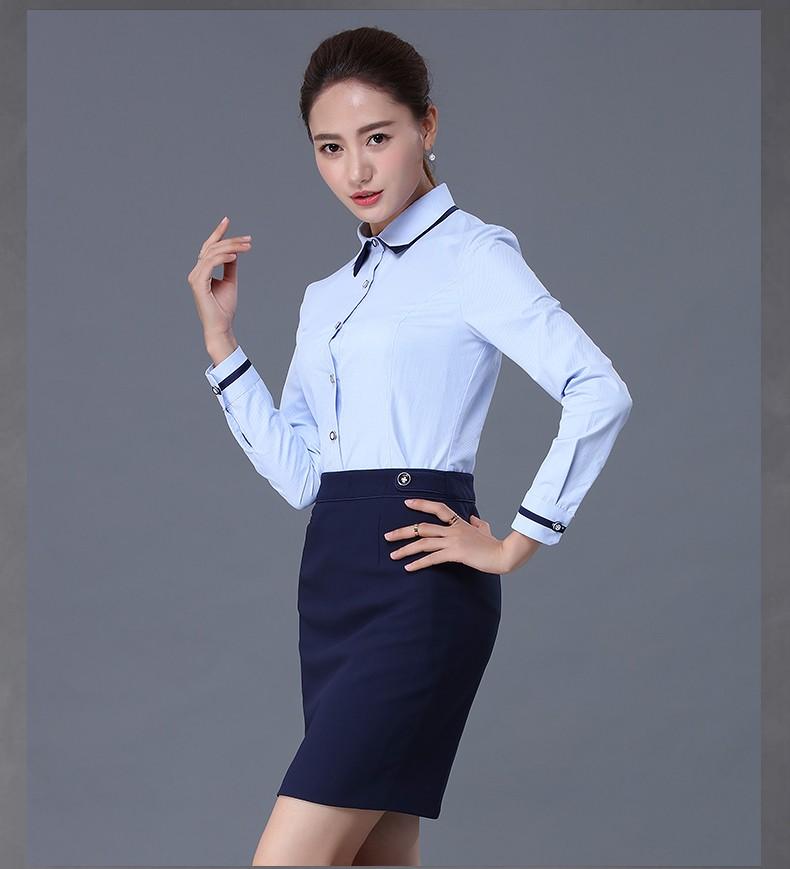 High Quality Juqian Womens Business Shirts Oem Las Slim Fit Women Chiffon Blouses Long Sleeve Blouse Office Work Wear Tops Blusas Plus Size