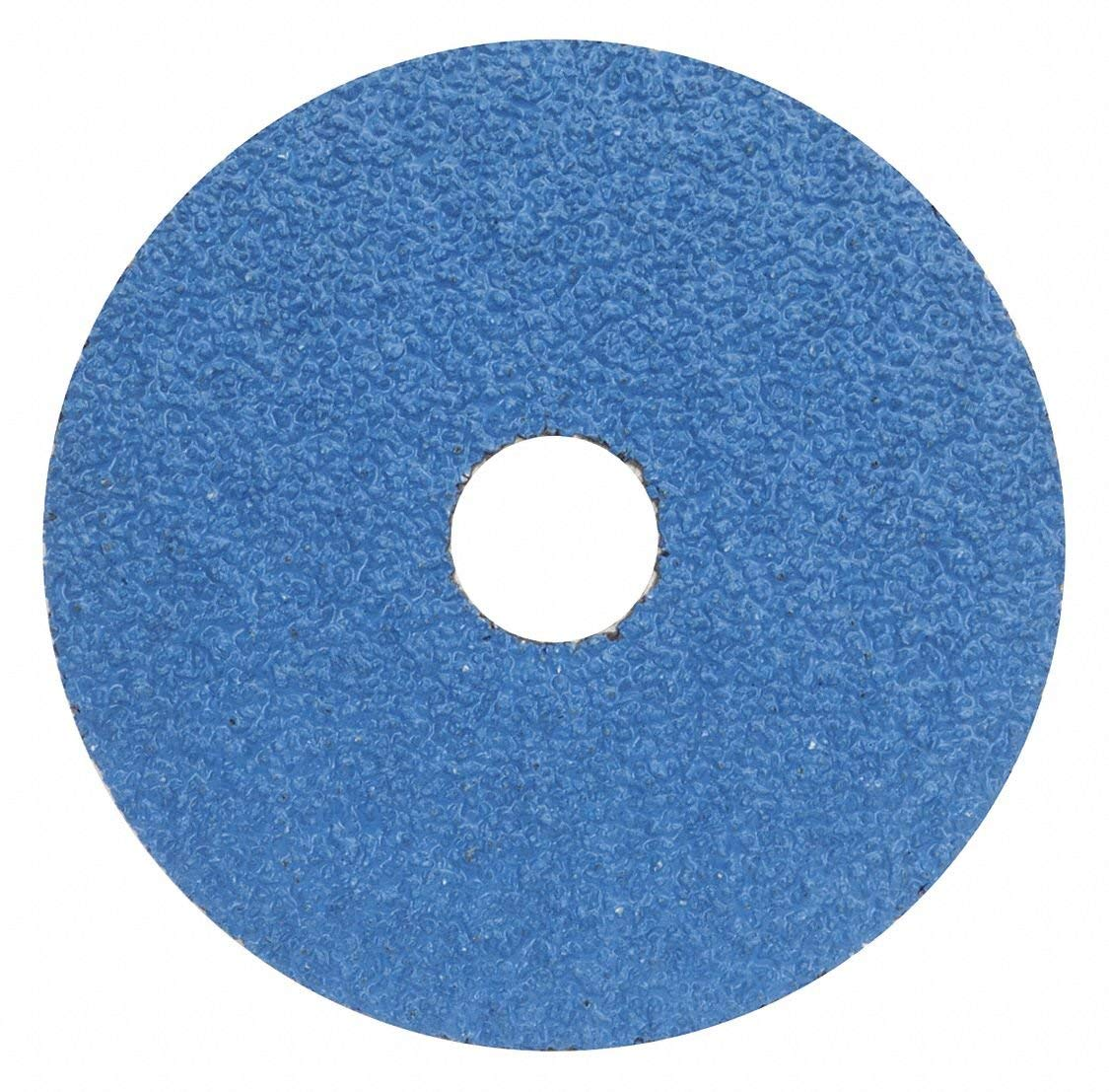 "4-1/2"" Coated Fiber Disc, 7/8"" Mounting Hole Size, Coarse, 50 Grit Zirconia Alumina, 25 PK - pkg. of 25"
